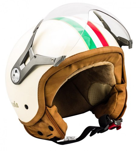 SOXON SP-325 - Casco Moto, ECE Certificado, con parasol y bolsa de casco, Beige (Imola), S (55-56cm)