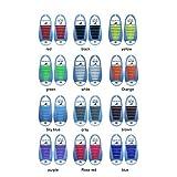 Leezo Cordones elásticos de silicona sin lazo Fácil de jalar y bloquear - Perfecto para adultos, niños, unisex - Multicolor, impermeable y super fácil de limpiar