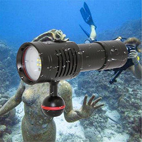 WILK-ATorcia elettrica nuova immersione subacquea professionale luce bianca e rossa fotografia subacquea illuminazione torcia a LED torcia elettrica