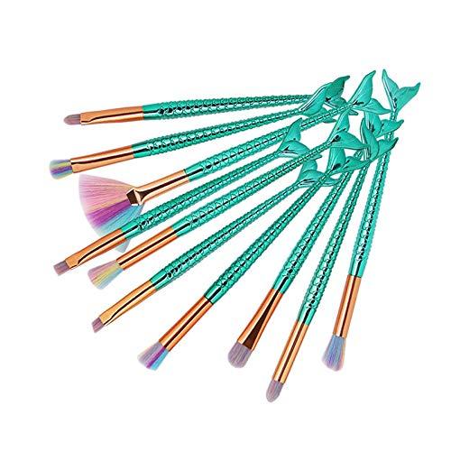4/5/10/11pcs Meerjungfrau Contouring Make Up Pinsel Set, EUZeo Kosmetik Hochwertige Augen Pinselset...
