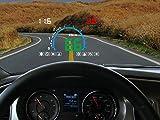 12V Digital Auto HUD OBD Head Up Anzeige KM / H MPH Tacho + Überdrehzahl Alarm + Motor Problem Alarm Wassertemperaturanzeige Auto Windschutzscheibe Projektor mit Reflektierender Film , deluxe white light hd e350-hud+ luxury gift