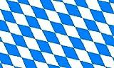 Flagge von Bayern, ohne Emblem, 1,5x0,9m,100% Polyester,Metallösen,doppelt genäht