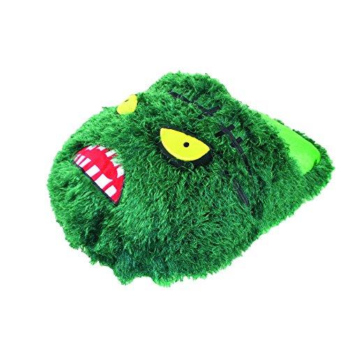 Kinder Zombie Monster Design Jumbo Slipper Fußwärmer Pink
