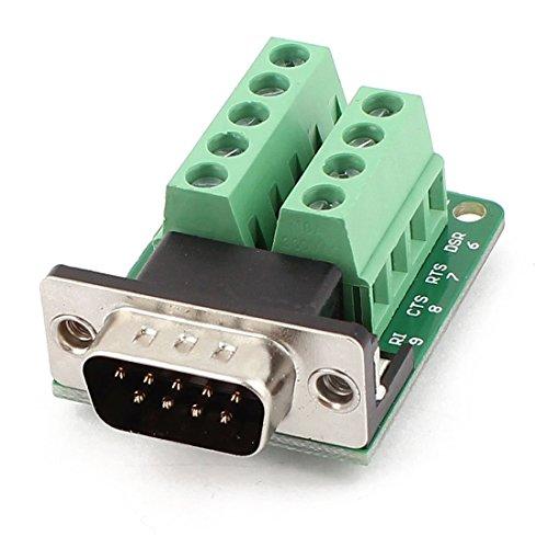 DB9 Maennlich Adapter - TOOGOO(R)DB9 D-SUB 9-Pin Maennlich Adapter RS232 auf Reihenklemme Signal Modul Gruen (Modul Db9 Buchse)