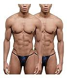 Doreanse G-String Herren String Tanga Micro-Modal Soft Unterwäsche Mens Thong Multipack (6 - L, Navy Blau)