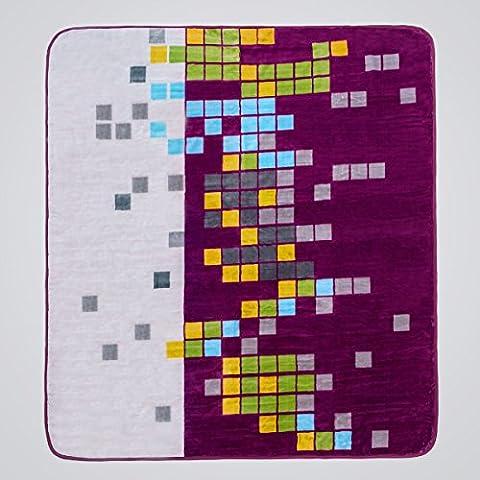 San Carlos Aride–Decke aus Samt, Violett cama matrimonio 135 x 150 cm dunkelviolett