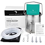 Aussie Health Co Non-Toxic Stainless Steel Enema Bucket Kit. 2.0 Litre. Phthalates