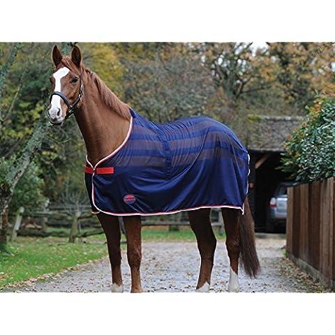 In tela Weatherbeeta Pony/cavallo di raffreddamento Standard - navy/Rosso/Bianco, Blu (blu), 4ft9