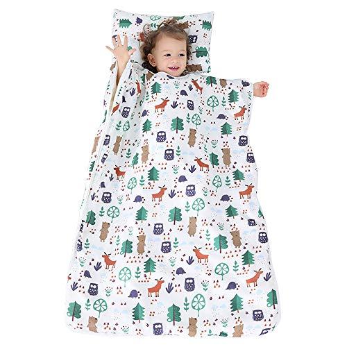 Belupai Sacco a pelo per riposino dei bambini, con cuscino e coperta rimovibili, adatto per casa, scuola materna, A1., 120x90CM