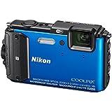"""AW130 Nikon Coolpix Appareil Photo Compact Numérique 16 Mpix (écran de 3"""" zoom optique 4x-pack) Housse Silicone + Support vélo et ceinture thoracique"""