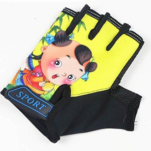 Handschuhe Transer® 1Paar Kinder Reithandschuhe Half Finger Handschuhe Sonnenschutz Anti Rutsch Handschuhe Fahren/RIDING