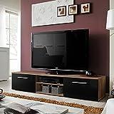 Paris Prix - Meuble TV Design Bono II 180cm Prunier & Noir