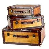 Vintiquewise TM Old vintage valigia/decorativo tronco, set di 3