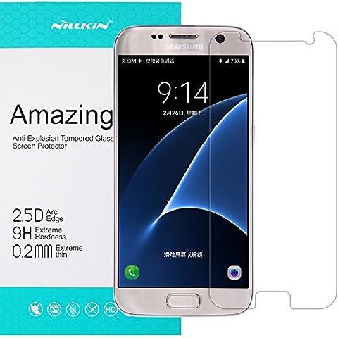 [0,2mm, 2,5D Arc 99% Claridad] Samsung Galaxy S7Protector de pantalla de cristal templado, Nillkin® [H + Pro] anti Glare/Burst/arañazos/Huellas de alta definición Protector de pantalla de cristal templado para Samsung Galaxy S7
