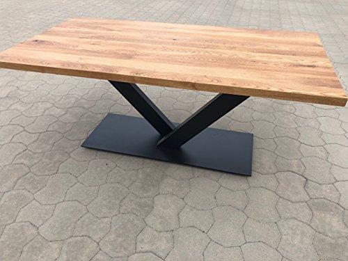 Holzwerk Esstisch Wildeiche massiv Platte 4cm stark 200×100 Echte 4cm dick Tisch OVP gerade Kante
