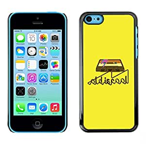 Omega Covers - Snap on Hard Back Case Cover Shell FOR Apple iPhone 5C - Old Cool Cassette Tape Art Retro Music