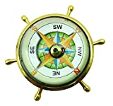 Neue Taschen-Magnetic Nautical Sundial 2.2'Brass Schiffskompass Maritime