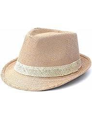 La mujer de ocio Crown corto volumen Soulful jazz oficial sunscreen playa hem sombrero de paja, C