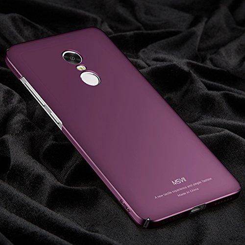 Coque Xiaomi Redmi Note 4X, MSVII® Très Mince Coque Etui Housse Case et Protecteur écran Pour Xiaomi Redmi Note 4X (Pas compatible avec Redmi Note 4) - Noir JY00216 Violet