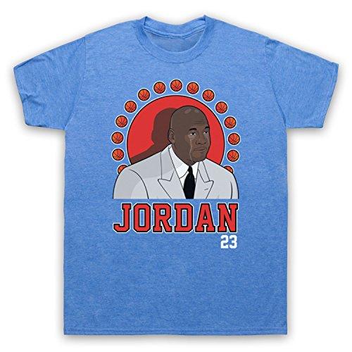 Inspiriert durch Crying Jordan Michael Jordan 23 Basketballer Award Inoffiziell Herren T-Shirt Jahrgang Blau