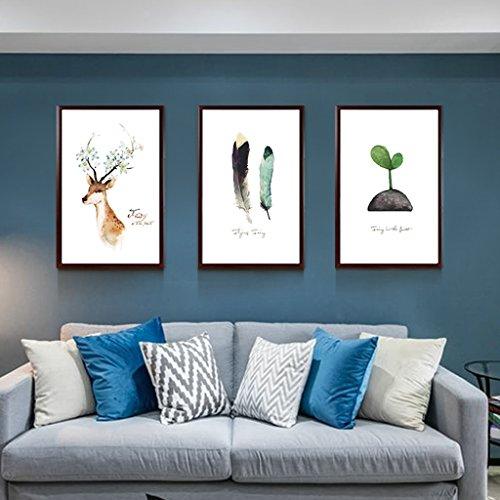 Cadres photo Mural en Bois Massif - Lot d3Cadres - Différentes Tailles - Bois de Pin Massif - Vitre en Verre - Profil de Cadre (Color : 10#)