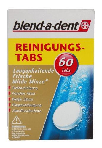 Blend-a-dent Reinungs-Tabs Langanhaltende FrischeMilde Minze, 60er