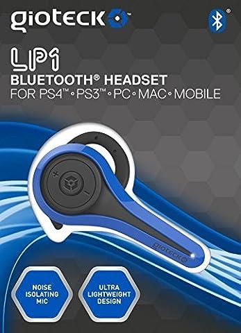 Oreillette Micro-casque Bluetooth pour PS4/PS3/PC Bleu