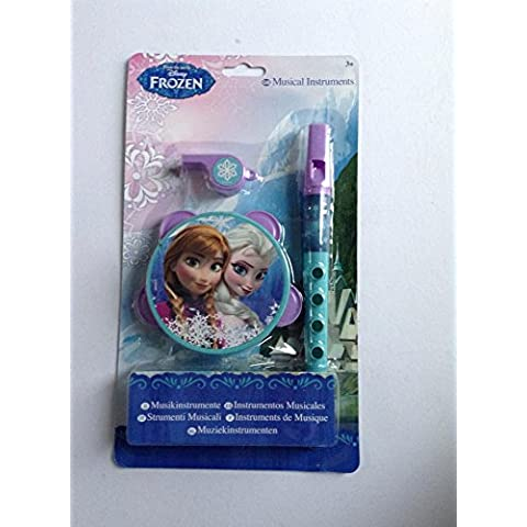 Disney Frozen strumenti musicali Tamborine Fischietto & Recorder