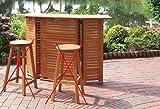 Bar Gartenbar Hausbar Poolbar in FSC Eukalyptus zusammenklappbar