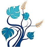 infactory Sticker-Bögen: Wand-Tattoo Blue Tree 120 cm hoch (Wandklebebild)
