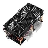 YHe YanHeMingKeJi - Módulo de Placa PCB de Calor de inducción, 1800 W, ZVS, con Interfaz de Ventilador de refrigeración + Bobina de Cobre Mayitr