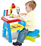 Olly Polly Multi-Functional Projector Study Drawing Projector Desk Table With Chair