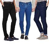 Stylox Men's Cotton Jeans Multicolour_32(Pack of 3)