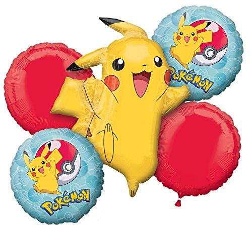 (Amscan 3633401 Folienballon Set Pokémon blau)