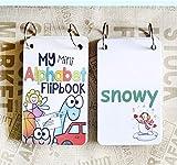 JYYC 26 Lettere Alfabeto Inglese fonetica Pocket Cards Bambino Montessori apprendimento Inglese Carta di Word FlashCards Giocattoli educativi per i Bambini