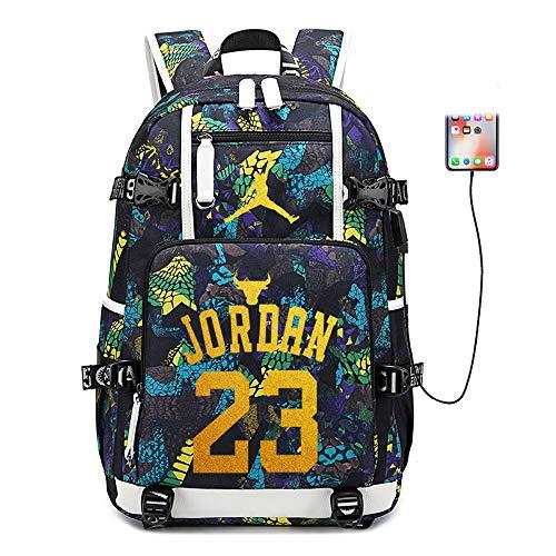 Lorh's store Basketballspieler Star Michael Jordan Multifunktionsrucksack Reisestudent Rucksack Fans Bookbag für Männer Frauen (Stil 4)