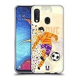 Head Case Designs Calcio Scivolata Mosse di Calcio Geometriche Cover in Morbido Gel Compatibile con Samsung Galaxy A20e (2019)