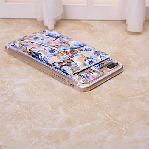 Petit Fleurs fraîches Conception durable antichoc avec Fold clip Case Slot pour carte stand Case Wallet pour iPhone 7 ( Color : 6 , Size : IPhone 7 ) 3