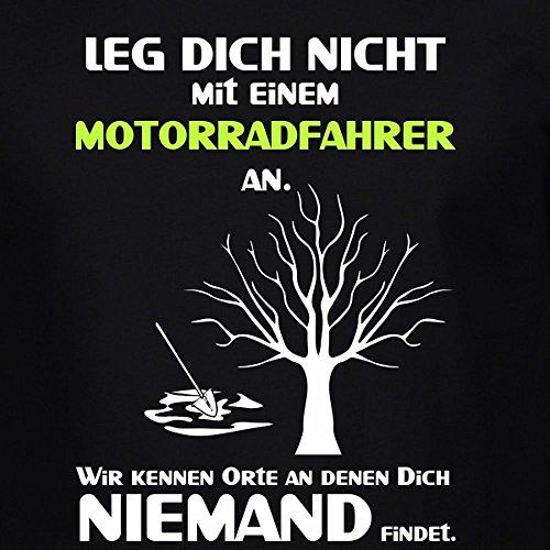 Fun Shirt Herren Leg Dich nicht mit einem Motorradfahrer an Sprüche Motorrad Leg Dich niemals mit Schwarz