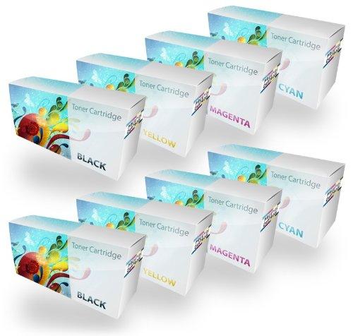 Prestige Cartridge Set 8 Toner kompatibel zu Xerox Phaser 7100 (106R02605 5.000 Seiten 106R02599 106R02600 106R02601 4.500 Seiten) - SCHWARZ(x2)/Cyan(x2)/Magenta(x2)/GELB(x2) -