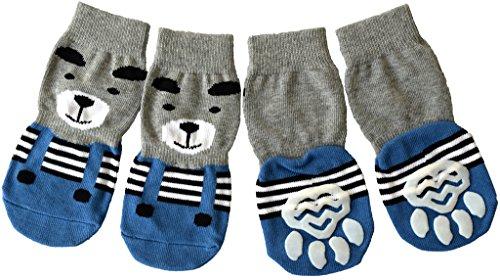 Pawzone Bear Design Dog Sock-L