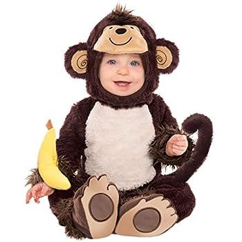 Toddler Halloween Cuddly Cute Monkey Baby Fancy Dress Costume Animal Jungle NEW