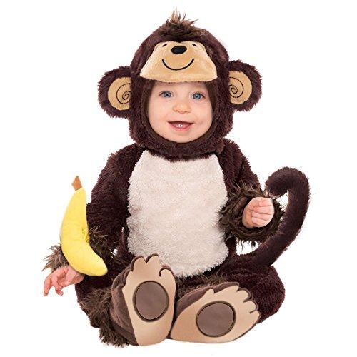 Baby Monkey Süßes Fancy Kleid Kostüm 6–12Monate Kleinkinder Jungle Party–Weihnachtsgeschenk Geschenk Idee