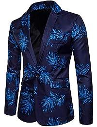 HaiDean Blazer De Ocio Slim Blazer para Fit Hombre Modernas Casual Chaqueta De Traje Estampado Chaquetas