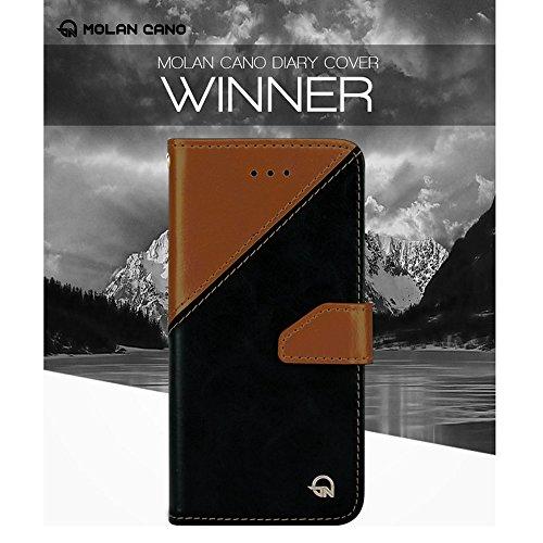 iPhone 7 Fall, Cellto [WINNER Series] Tagebuch Case Premium PU-Leder-Qualitäts-Mappen-Abdeckung mit Kartenslots für Apple iPhone 7 - Braun / Schwarz Braun schwarz