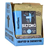 Beefit Biltong - Beef Jerky - (10x35g). Gluten & ZUCKER Frei, hoher Proteingehalt, PALEO (Traditionelle)