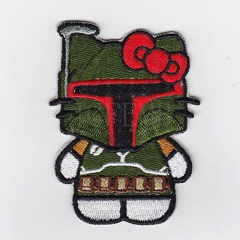 Nuovo Ciao Kitty StarWars Boba Fett Kitty Military Tactics Morale ricamo B2550 Badge di patch
