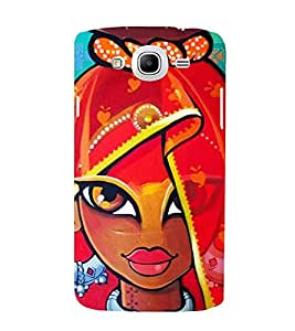 Animated Traditional Indian Girl 3D Hard Polycarbonate Designer Back Case Cover for Samsung Galaxy Mega 5.8 i9150 :: Samsung Galaxy Mega 5.8 i9152