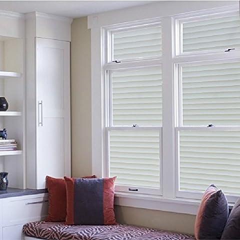Nicht klebende Fensterfolie als Sichtschutz, haftet statisch auf Glas und am Fenster, zur Dekoration, UV-Schutzfolie, (45,7x 99,1cm), Fensterläden/Milchglas-Design, Vinyl, 60x200