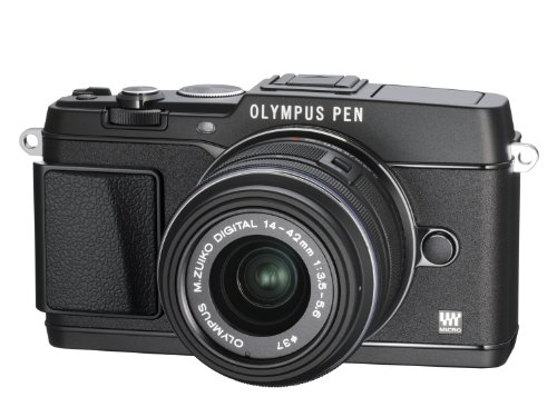 Olympus PEN E-P5 Micro Four Thirds Interchangeable Lens Camera - Black (16.1MP, Live MOS, M.Zuiko 14-42mm II R Lens) 3.0 inch Tiltable Touchscreen LCD
